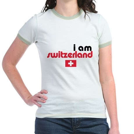 I Am Switzerland Jr. Ringer T-Shirt