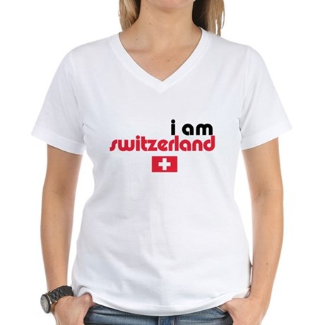 I Am Switzerland Women's V-Neck T-Shirt