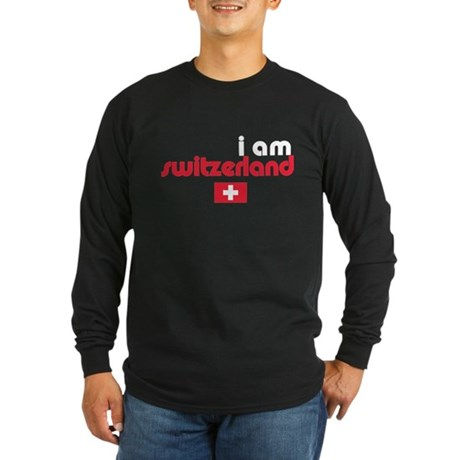 I Am Switzerland Long Sleeve Dark T-Shirt