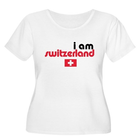 I Am Switzerland Women's Plus Size Scoop Neck T-Sh