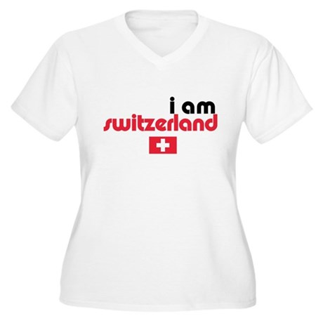 I Am Switzerland Women's Plus Size V-Neck T-Shirt