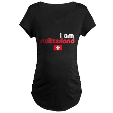 I Am Switzerland Maternity Dark T-Shirt