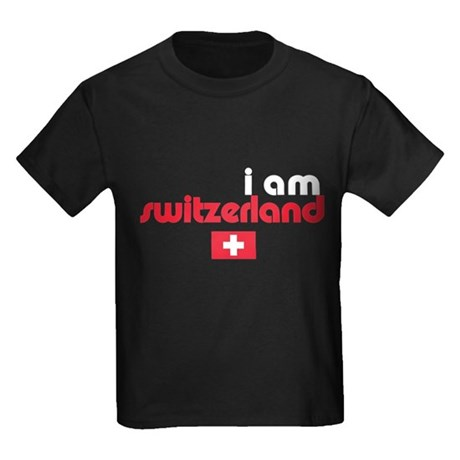 I Am Switzerland Kids Dark T-Shirt