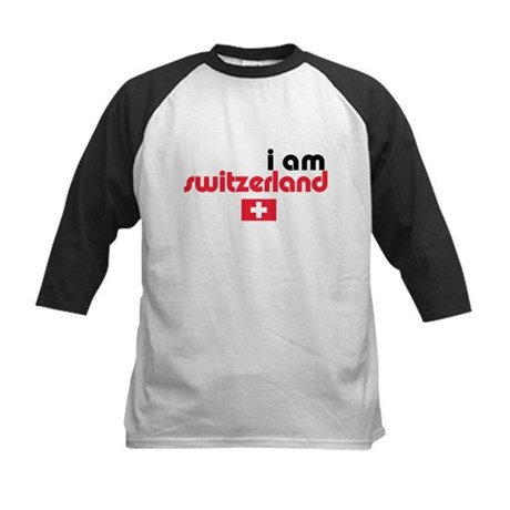 I Am Switzerland Kids Baseball Jersey