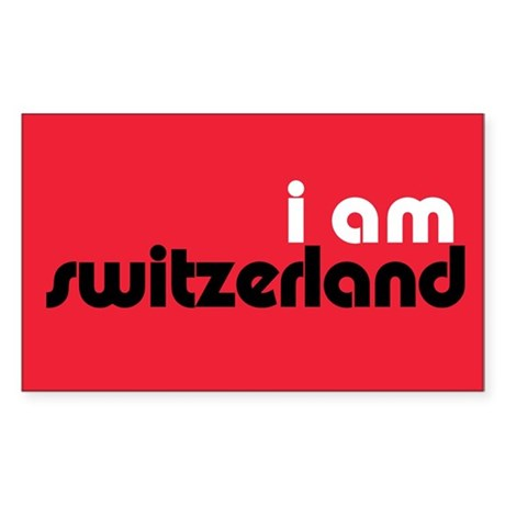 I Am Switzerland Rectangle Sticker 50 pk)