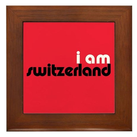 I Am Switzerland Framed Tile