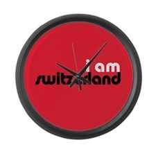 I Am Switzerland Large Wall Clock