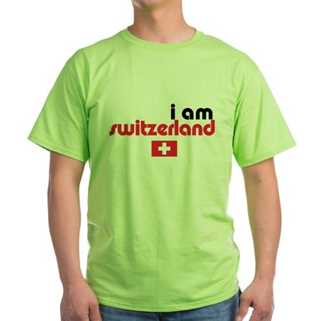 I Am Switzerland Green T-Shirt