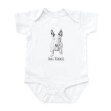 Little Bull Terrier (pencil) Infant Bodysuit