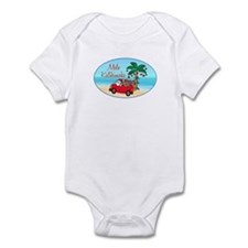 Hawaiian Christmas Santa Infant Bodysuit