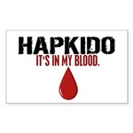 In My Blood (Hapkido) Rectangle Sticker