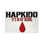 In My Blood (Hapkido) Rectangle Magnet (10 pack)