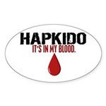 In My Blood (Hapkido) Oval Sticker (50 pk)