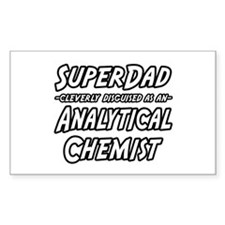 """""""SuperDad Analytical Chemist"""" Rectangle Decal"""