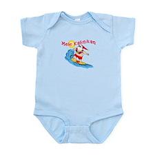 Hawaiian Christmas Surfing Santa T-shirt Infant Bo