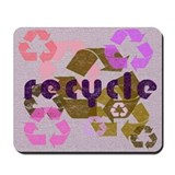 Pink & Brown Recycle Logo Mousepad