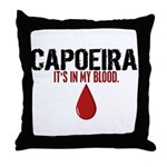 In My Blood (Capoeira) Throw Pillow
