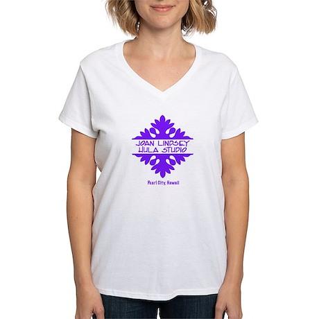 Joan Lindsey Hula Studio logo Women's V-Neck T-Shi