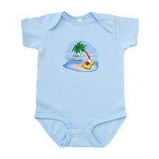 Hawaiian Christmas Santa Infant Bodysuit