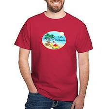 Hawaiian Christmas Lazy Santa T-Shirt