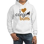 I Heart Corgi Butts - BHT Hooded Sweatshirt