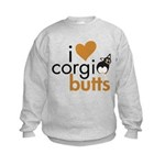 I Heart Corgi Butts - BHT Kids Sweatshirt