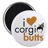 I Heart Corgi Butts - BHT 2.25&quot; Magnet (10 pack)