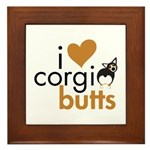 I Heart Corgi Butts - BHT Framed Tile