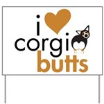 I Heart Corgi Butts - BHT Yard Sign