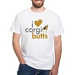 I Heart Corgi Butts - Sable White T-Shirt