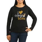 I Heart Corgi Butts - Sable Women's Long Sleeve Da