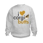 I Heart Corgi Butts - Sable Kids Sweatshirt