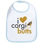 I Heart Corgi Butts - Sable Bib