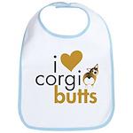 I Heart Corgi Butts - Sable Bib