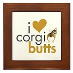 I Heart Corgi Butts - Sable Framed Tile