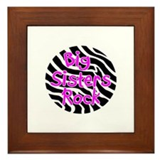 Big Sisters Rock Framed Tile