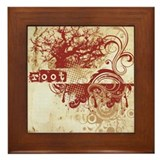 Red Root Chakra Framed Tile