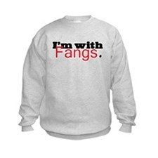 Twilight I'm with Fangs Sweatshirt