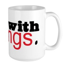Twilight I'm with Fangs Mug