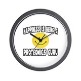 """Happiness...Proteomics Guru"" Wall Clock"