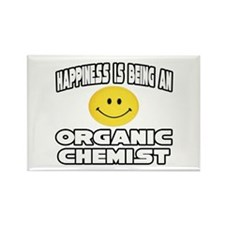 """Happiness..Organic Chemist"" Rectangle Magnet (10"