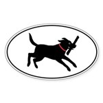 Playful Lab Oval Sticker (10 pk)