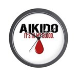 In My Blood (Aikido) Wall Clock