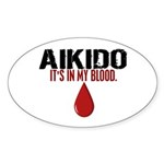 In My Blood (Aikido) Oval Sticker (50 pk)