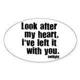 Twilight Movie Quote Oval Sticker (10 pk)