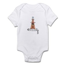 Airedale Terrier Chef Infant Bodysuit