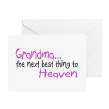 Grandma, The Next Best Thing To Heaven Greeting Ca