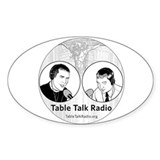 Table Talk Radio Oval Decal