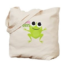 "Cute Frog & ""Think Green"" Tote Bag"