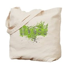 House Heart Light Green Tote Bag